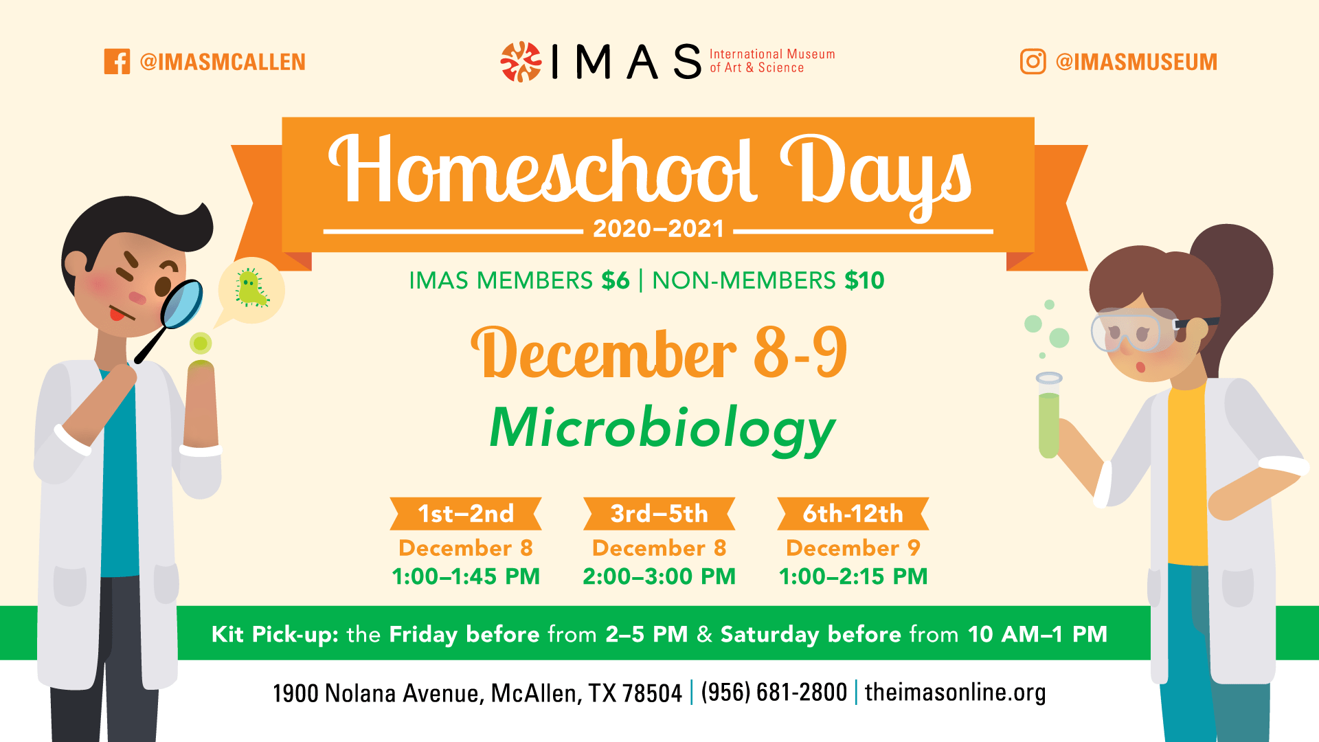 Microbiology Homeschool Days with IMAS -December
