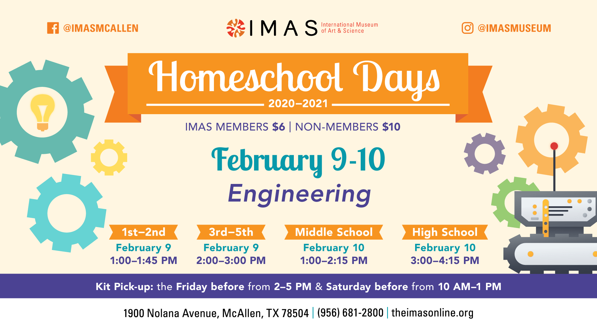 Homeschool Days at IMAS -February