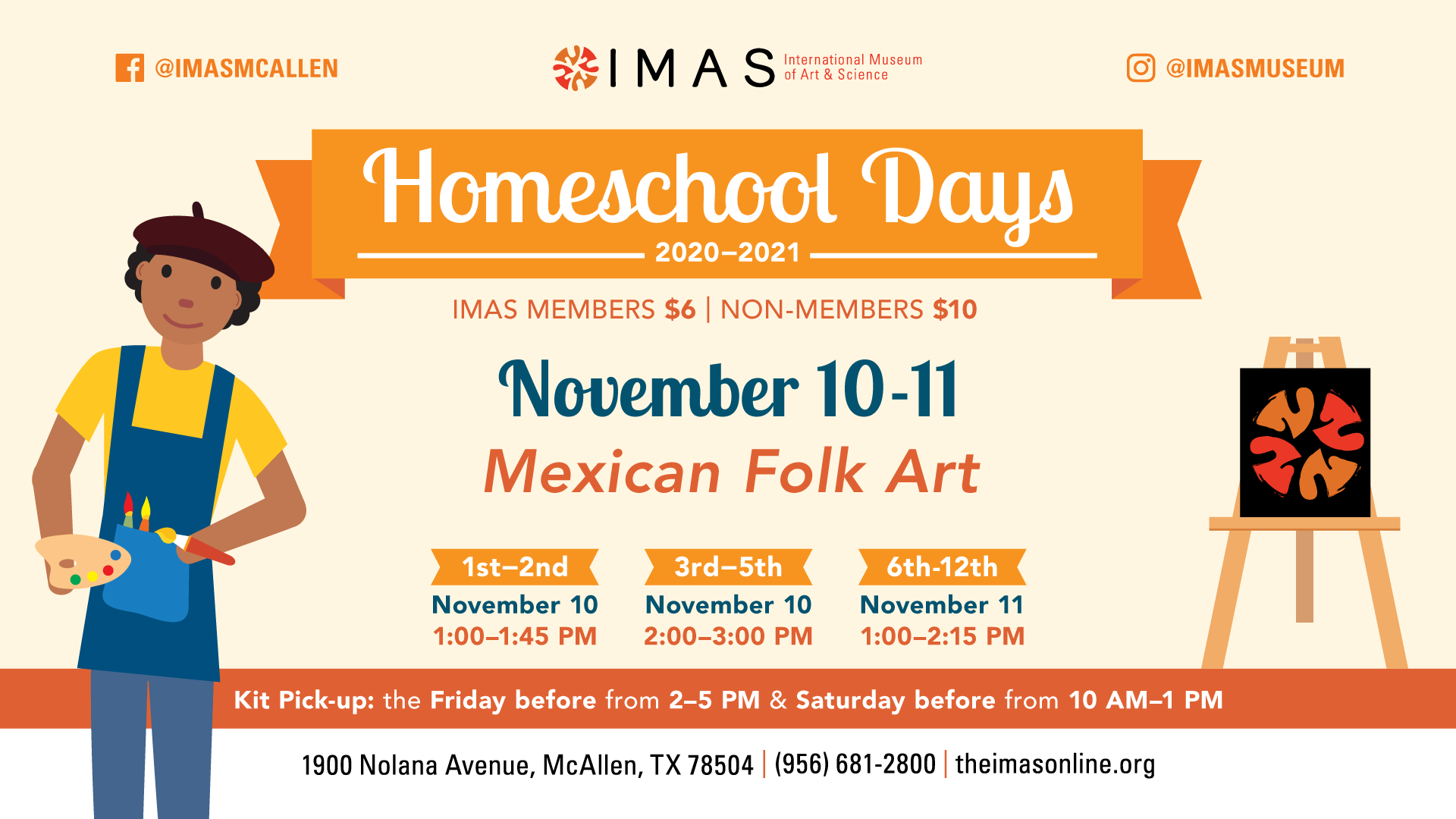 November Homeschool Workshops at IMAS