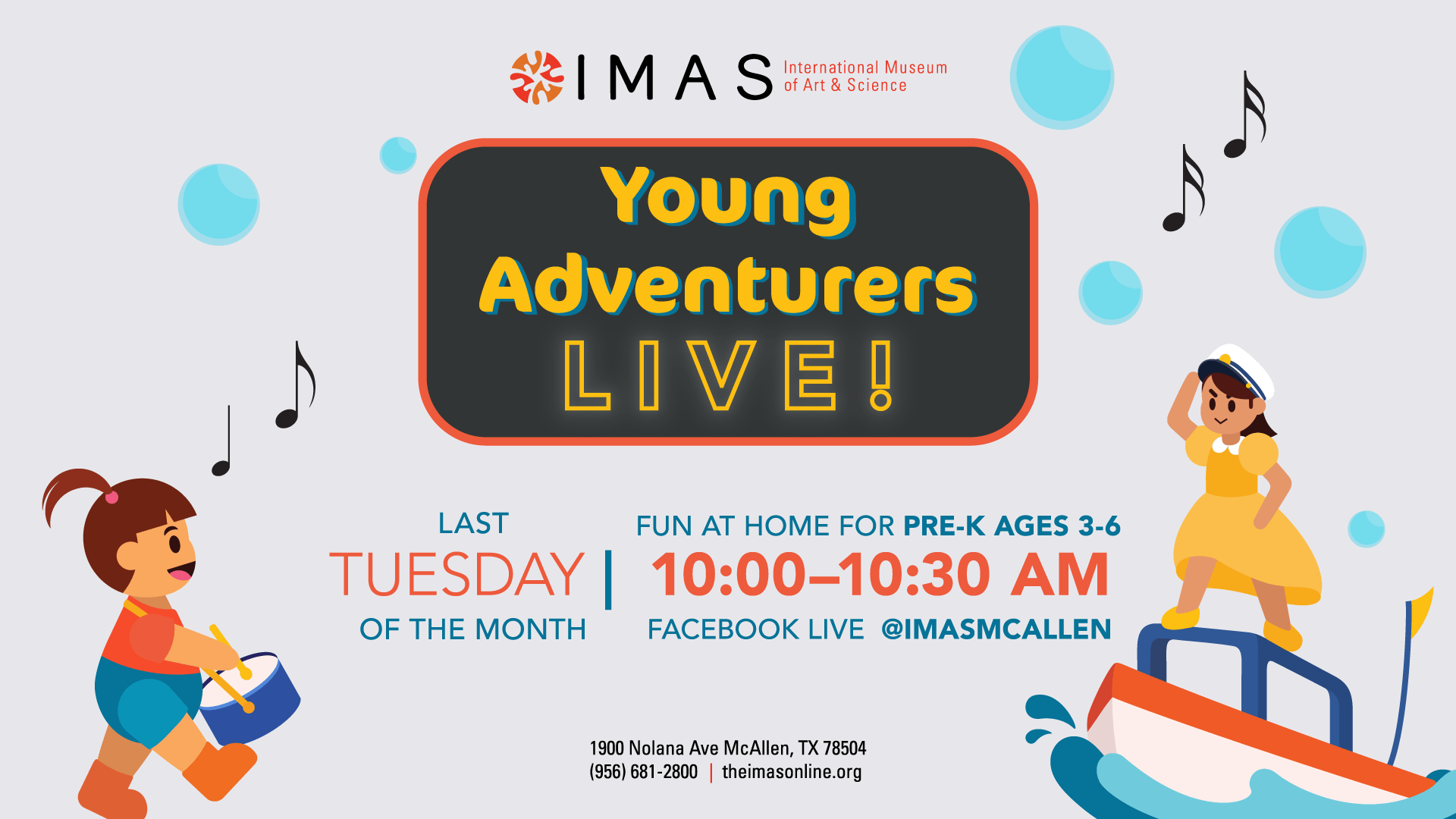 Young Adventurers Live with the IMAS