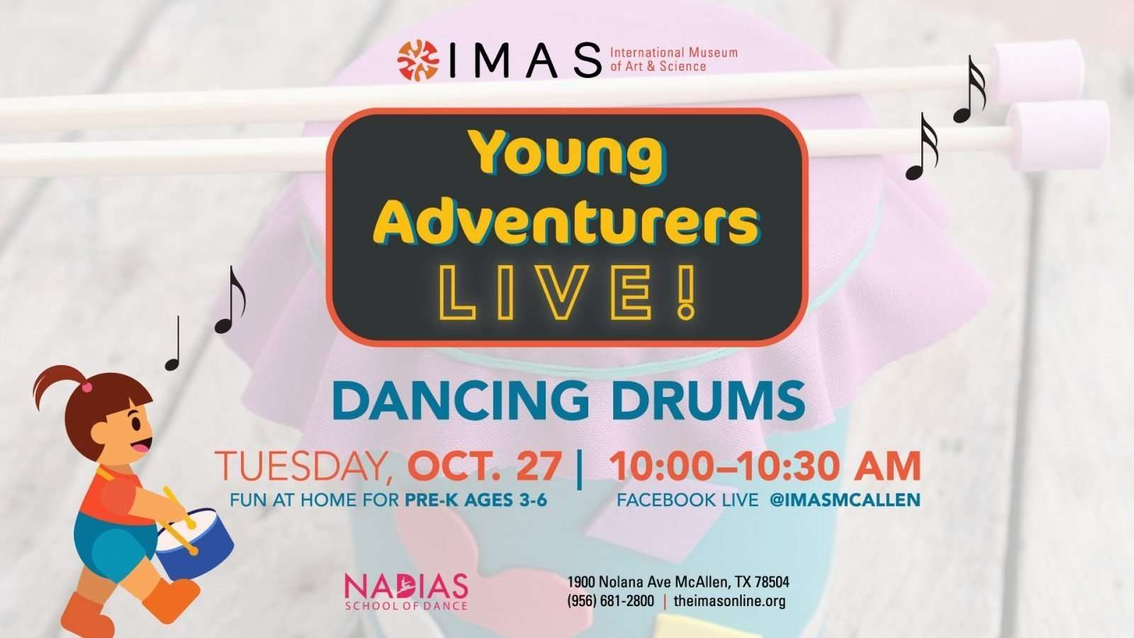 Dancing Drums - Young Adventurers October at IMAS