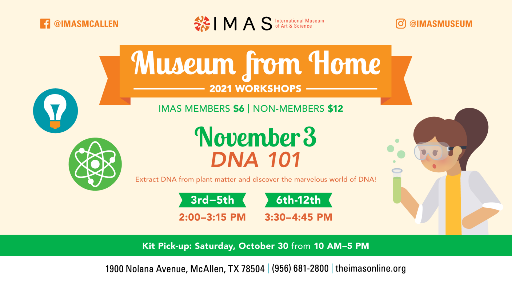 Museum from Home DNA 101 at IMAS