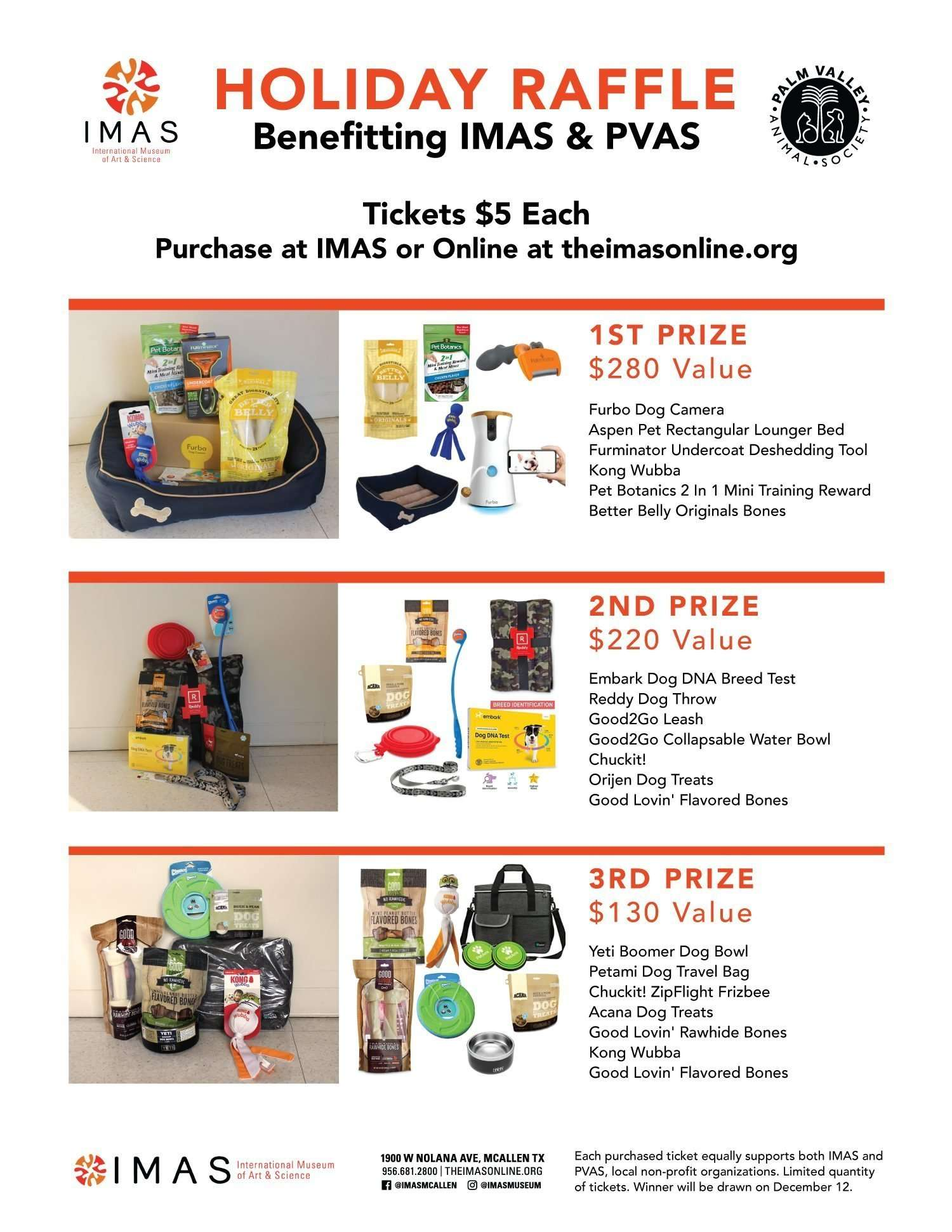 Dog Basket Raffle Flyer IMAS and PVAS