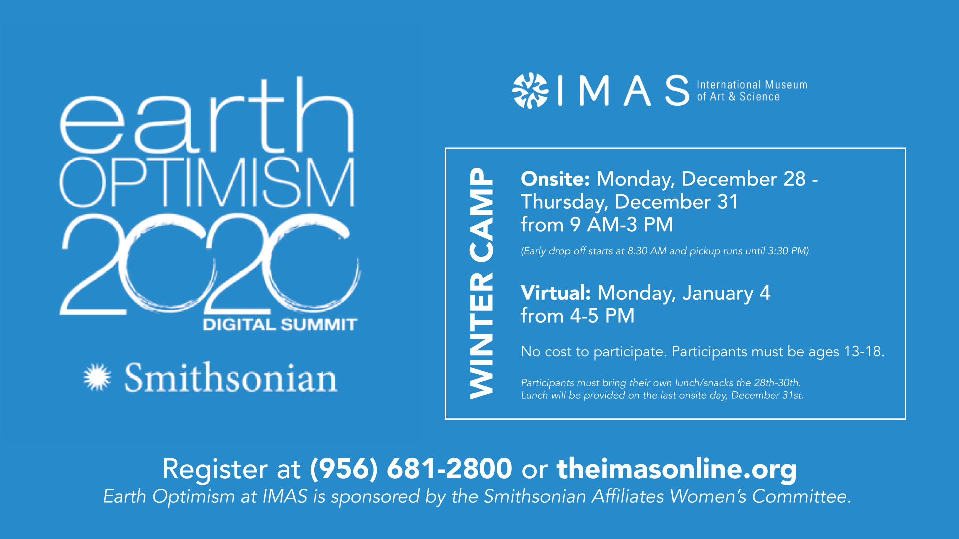 Earth Optimism Winter Camps