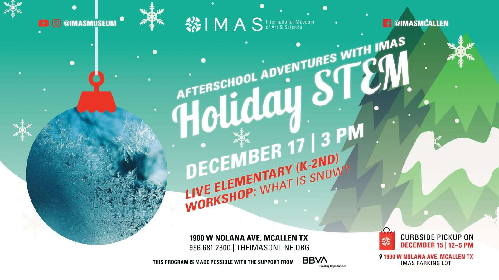 Holiday STEM workshop for Elementary K-2nd grade