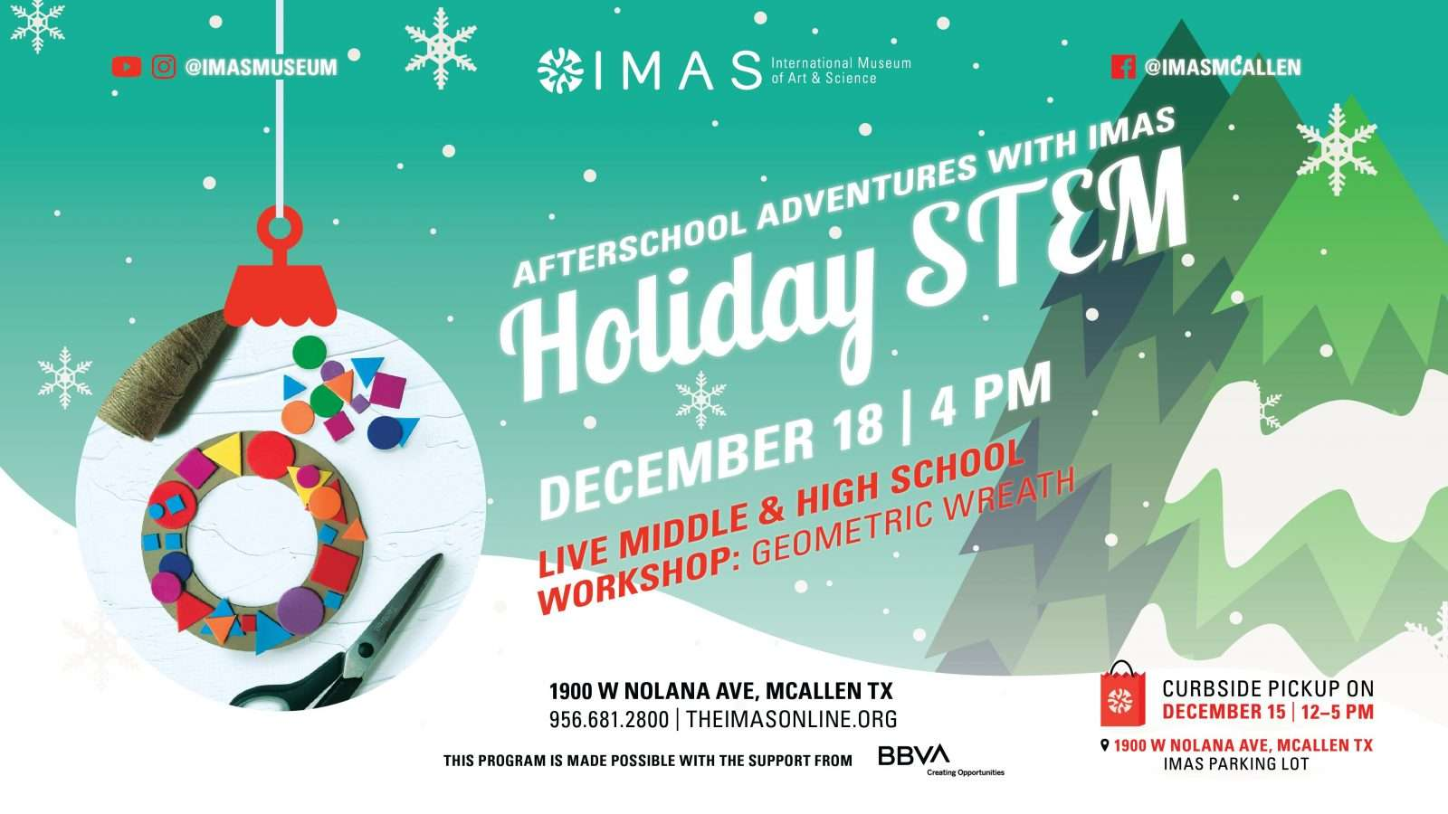 Holiday STEM workshop 6-12th grade
