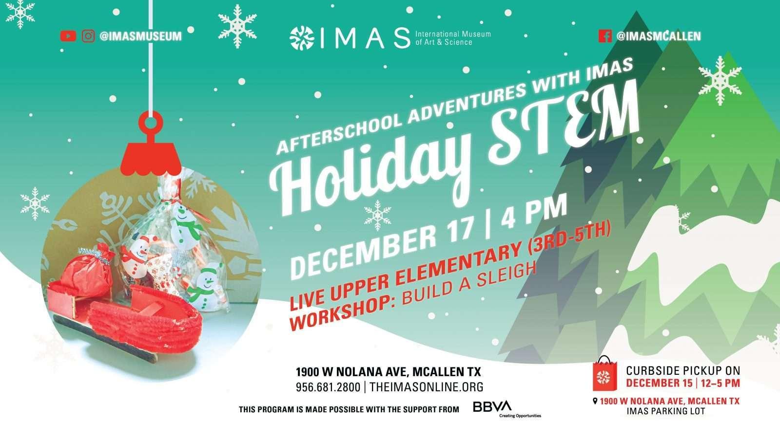 Holiday STEM workshop 3-5th grade