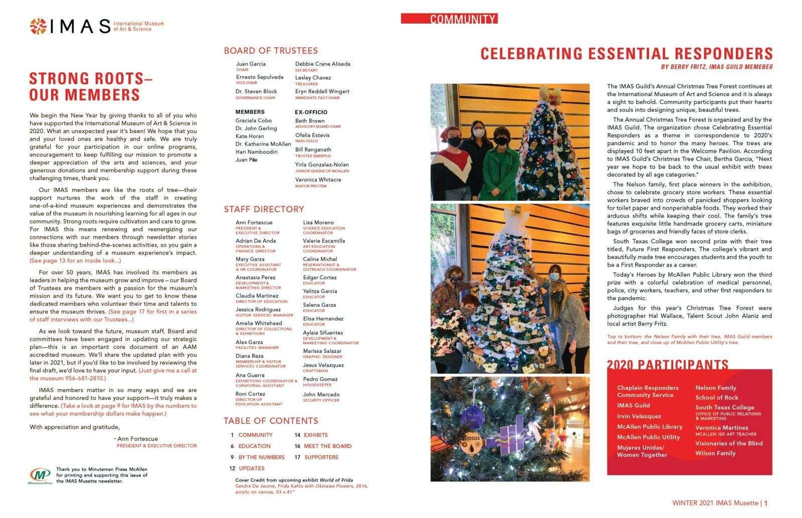 IMAS Musette Newsletter Winter 2021