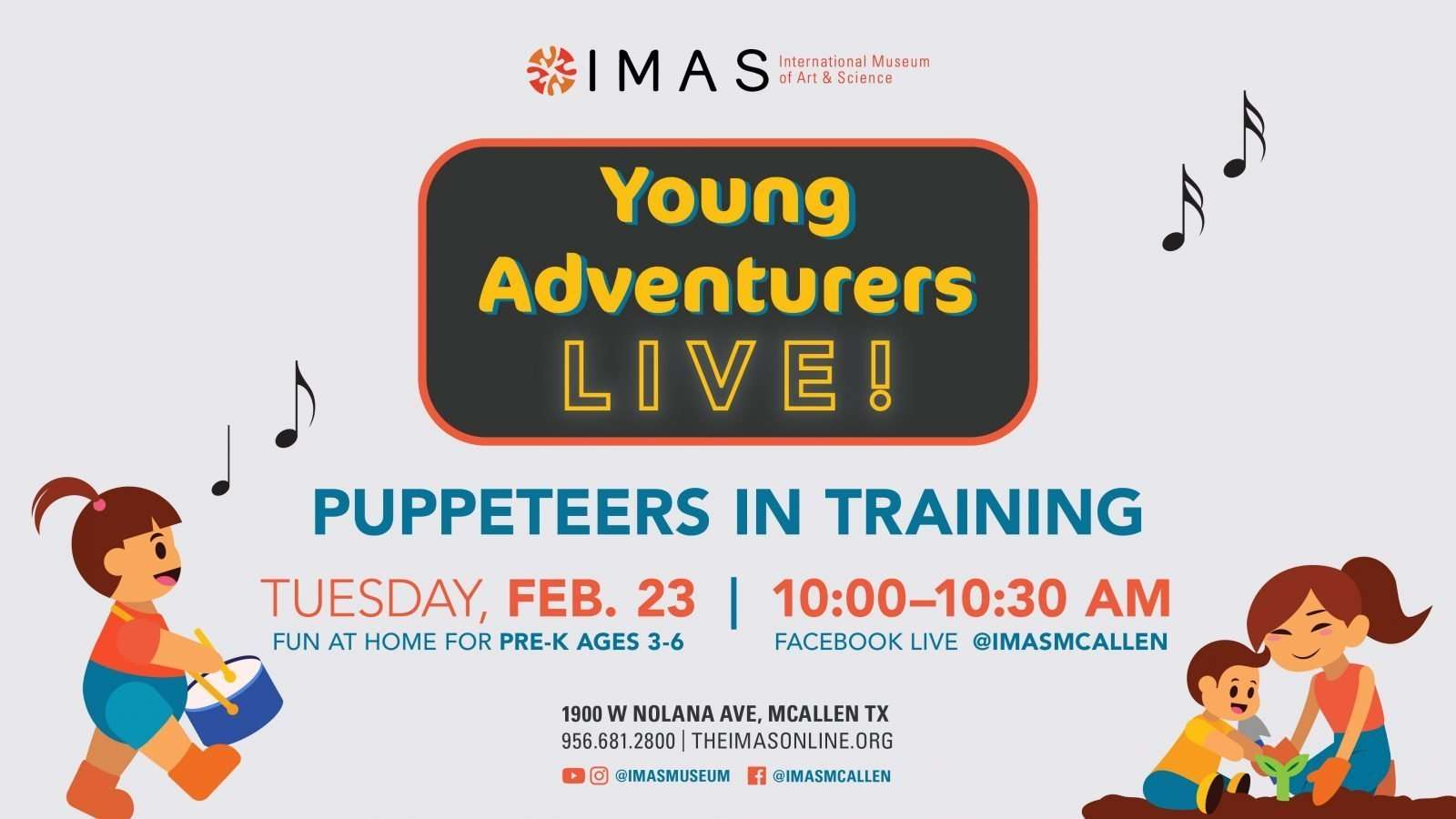 Puppeteers in Training YoungAdventurers fb event