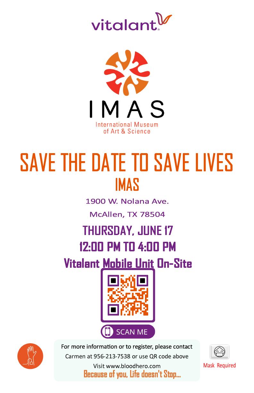Vitalant Mobile Unit Blood Drive at IMAS
