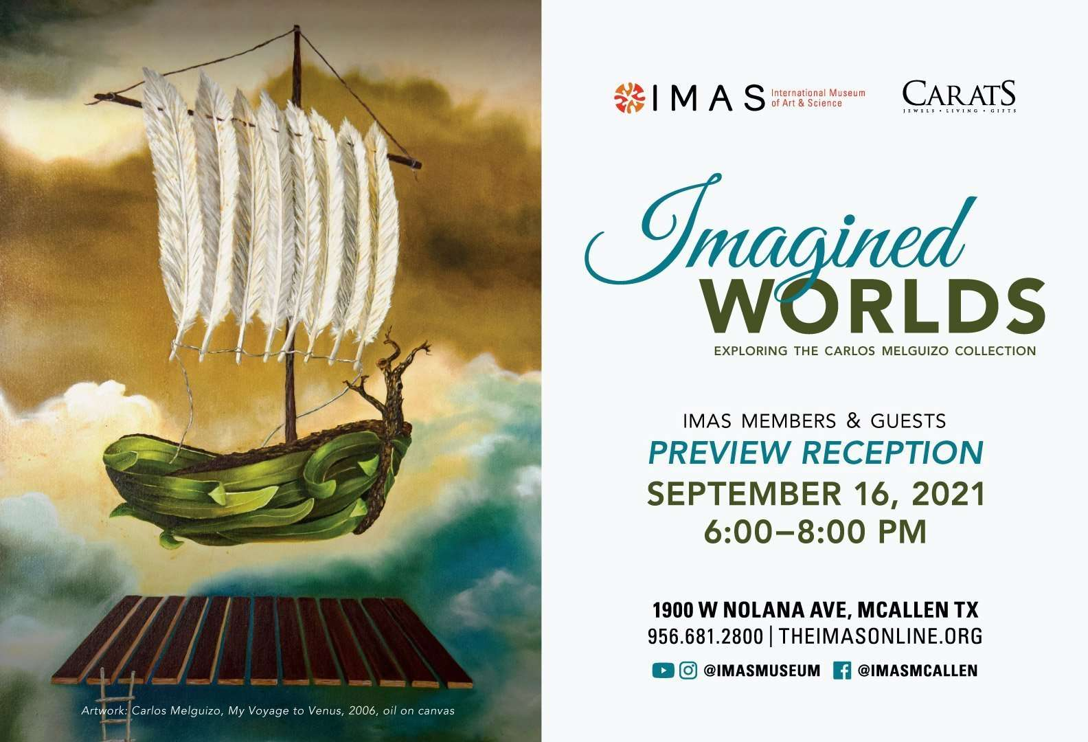 Imagined Worlds Reception FB banner