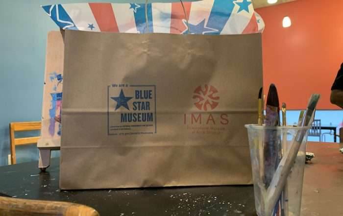 Blue star back to school bag