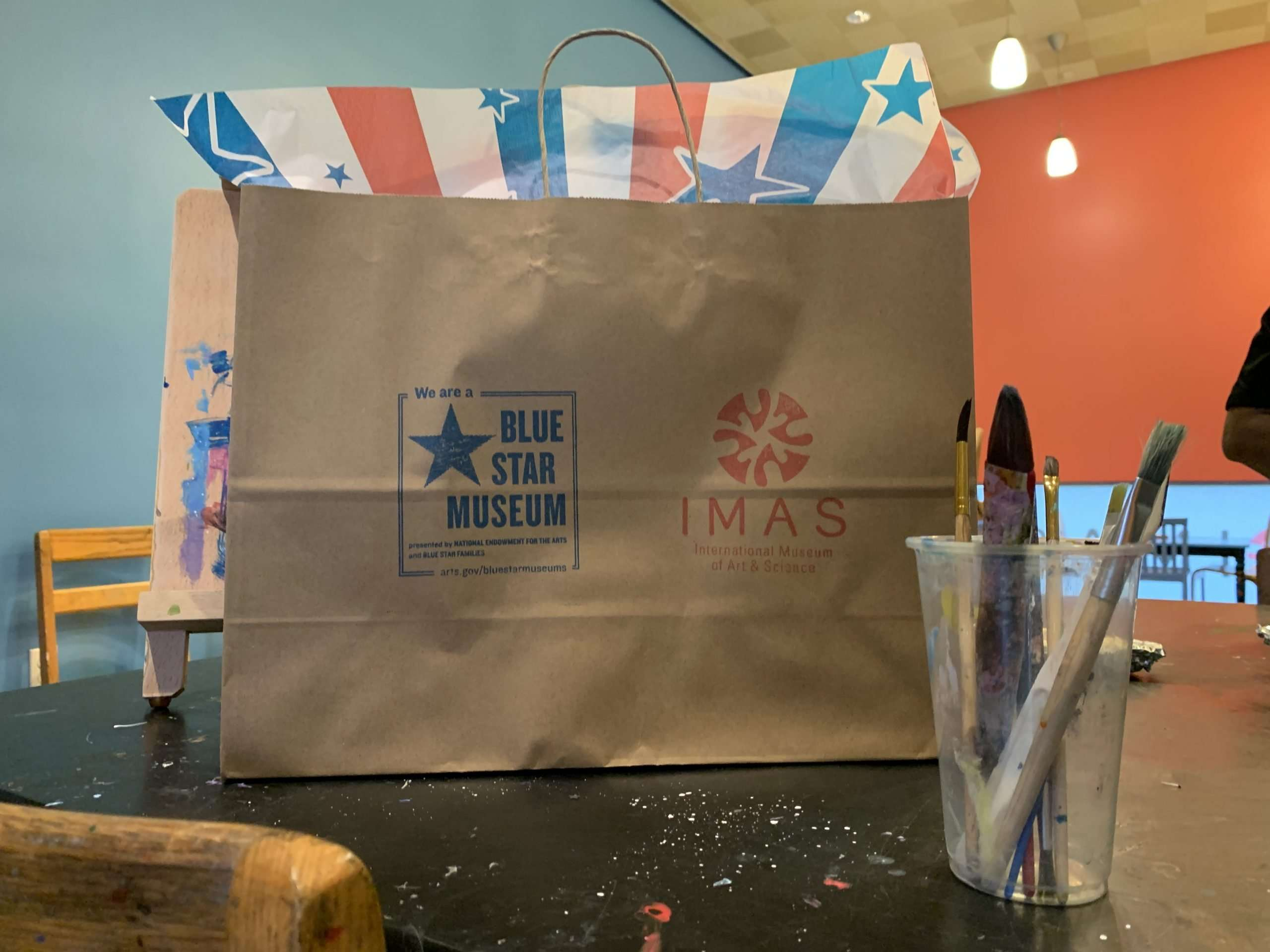 Blue star back to school bag scaled