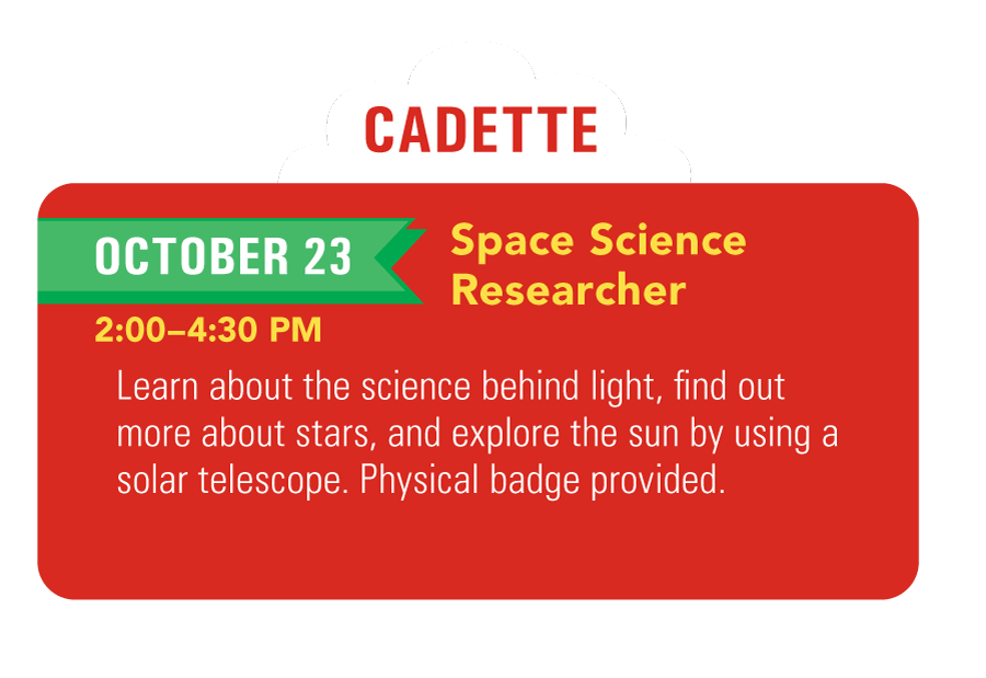 Cadette Girl Scouts Space Science Researcher