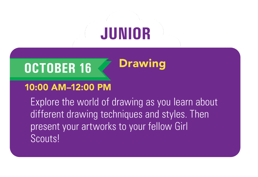 Junior Girl Scouts Drawing