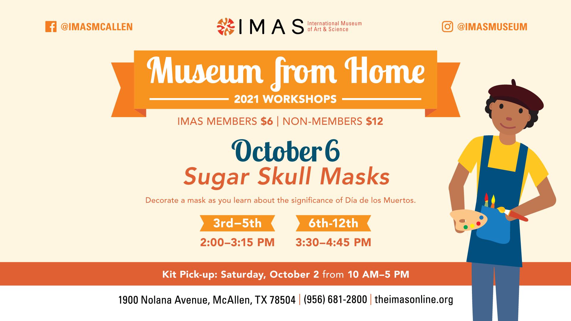 Museum from Home Sugar Skull Masks at IMAS